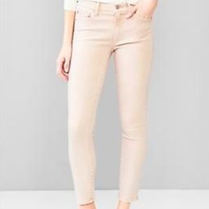 GAP Women True Skinny Jeans Peach Cream Color